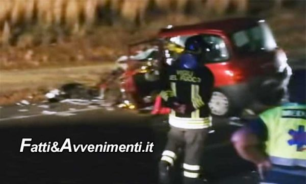 Auto con famiglia a bordo si scontra con Camion: muore il papà, ferita la moglie e i tre bambini