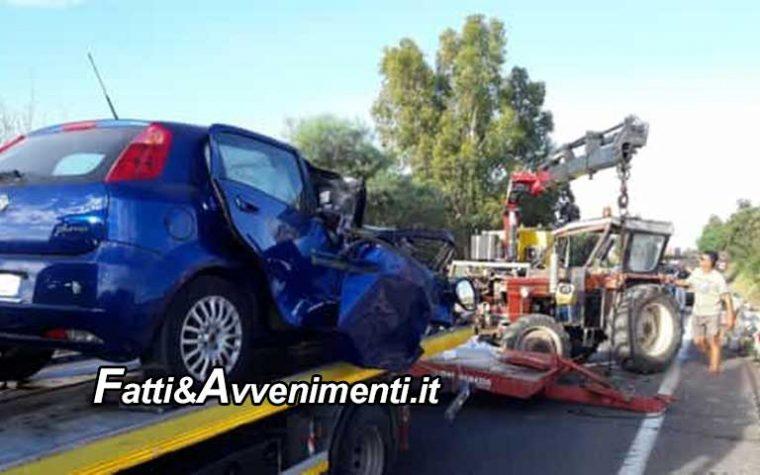 Agrigento.  S.S 115, trattore contro auto: grave un 66enne  trasferito in elisoccorso a Palermo