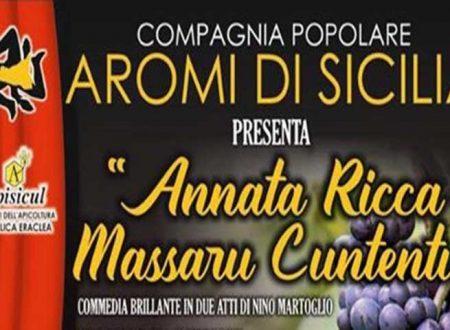 """Estate riberese. Teatro, stasera a Seccagrande in scena """"Annata ricca massaru cuntentu"""""""