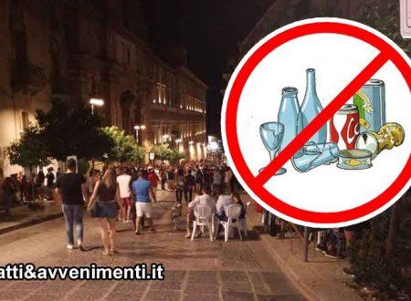 Sciacca. 15 agosto: vietata vendita bevande in bottiglie di vetro o lattine