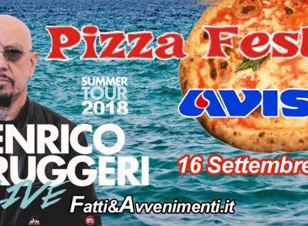 Pizza Fest Ribera. Iniziativa dell'AVIS: ingressi gratuiti per il concerto di Ruggeri se doni il sangue
