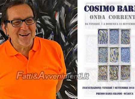 Sciacca. Da domani, ad un anno dalla sua prematura scomparsa, mostra dedicata a Cosimo Barna