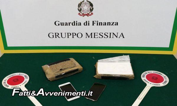 Messina. Trasportavano 2 chili e mezzo di cocaina in auto: arrestati due corrieri