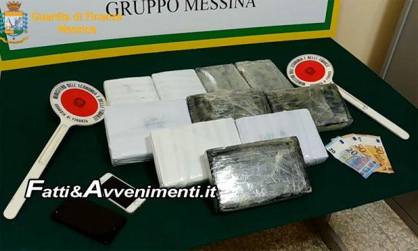 Messina. Fermato corriere calabrese con 11kg di cocaina: arrestato