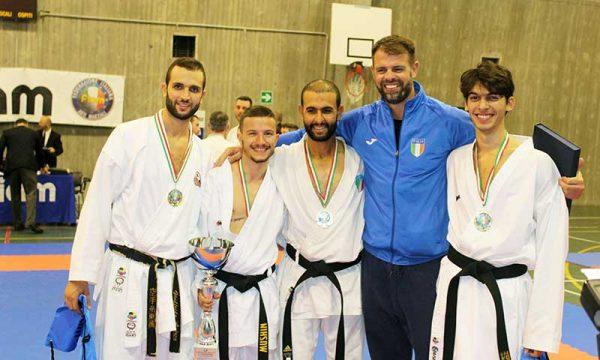 Andrea Giuffrida dell'Asd Sakura di Sciacca vince con la Nazionale l'International Karate Cup