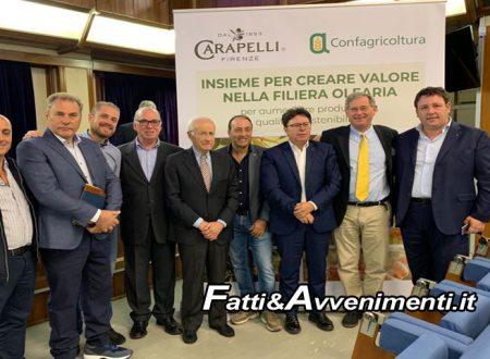 Palermo. Entra nella fase operativa l'accordo tra Deoleo spa (Sasso e Carapelli) e Confagricoltura