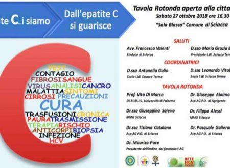 """Inner wheel Sciacca Terme, Sabato 27 organizza tavola rotonda: """"Epatite C…i siamo! Dall'epatite C si guarisce"""""""