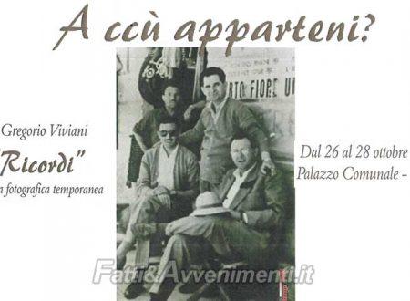 """Menfi. Dal 26 al 28 mostra fotografica """"Ricordi"""" di Gregorio Viviani con 50 foto di """"A cù apparteni"""""""