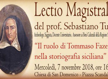 """Sciacca. Mercoledì 7 """"Lectio Magistralis"""" Tommaso Fazello organizzata dall' Ass. Amici museo Mare V. Tusa"""