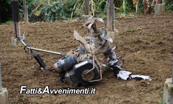 Agrigento. 71Enne finisce sotto la sua motozappa: operato d'urgenza, rischia di perdere una gamba
