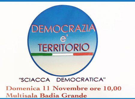"""Sciacca. Domani """"Sciacca Democratica"""" incontra la città alla Badia Grande"""