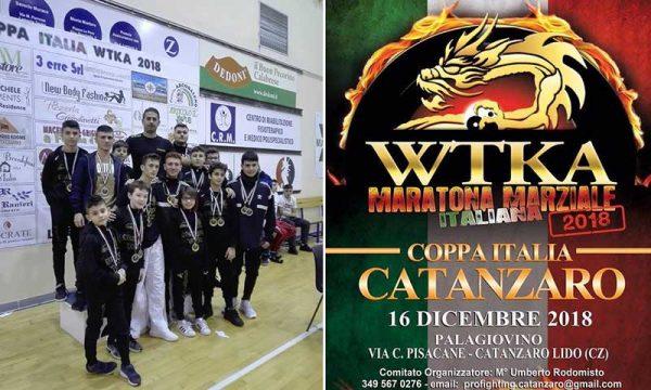 Il Bushido Team del Maestro Graffeo, al Palagiovino di Catanzaro per la Coppa Italia della WTKA