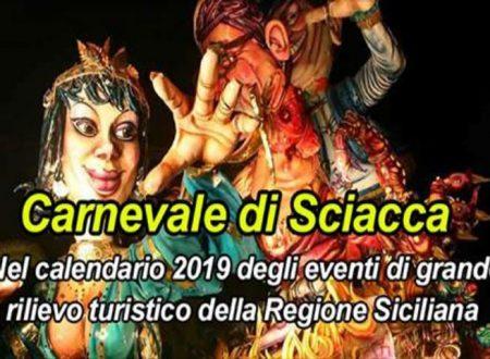 Il Carnevale di Sciacca inserito nel Calendario 2019 eventi di grande rilievo turistico Regionali