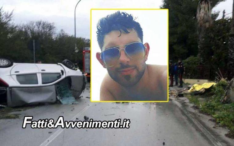 Selinunte (TP).  Auto si ribalta sulla SS 115: muore un 23enne sbalzato fuori dal mezzo