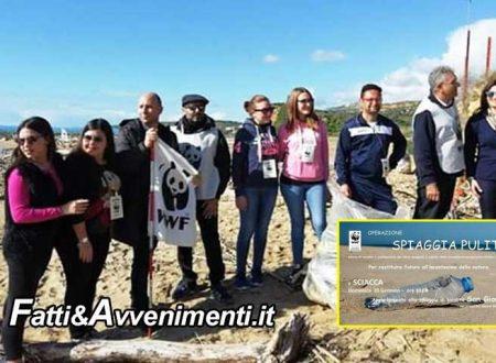 """Sciacca. Operazione """"Spiagge Pulite"""": i volontari del WWF ripuliscono la costa di S.Giorgio"""