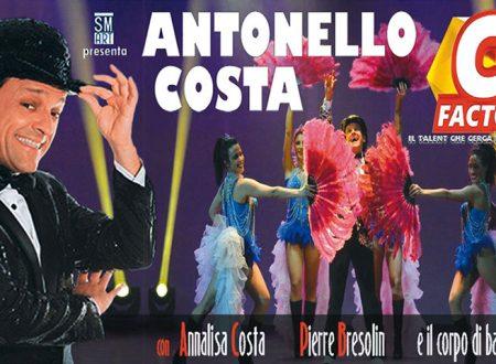 """Ribera. Rassegna Teatrale: Venerdì 22 febbraio Antonello Costa, con il suo nuovo spettacolo di varietà comico """"C Factor"""""""