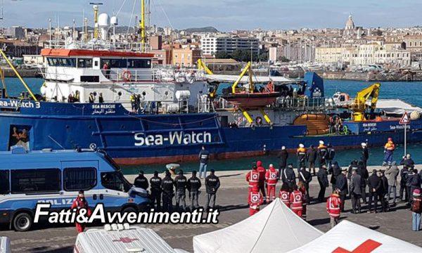 """Catania. La Sea Watch3 non può lasciare il porto: per la Guardia Costiera ci sono """"Troppe anomalie"""""""