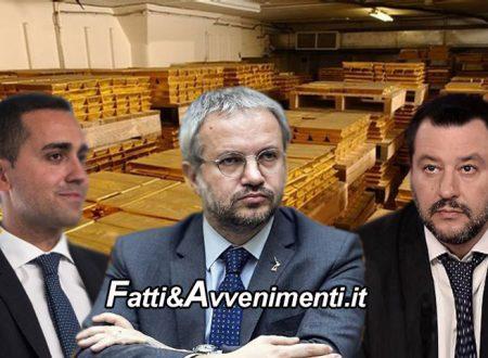 Oro della Banca d'Italia appartiene al Popolo Italiano: Lega e M5s d'accordo, Borghi presenta proposta di legge