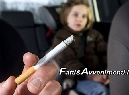 Catania. Fuma in macchina con la figlia accanto: Polizia gli fa 110 euro di multa