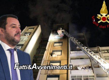 """Catania. Pompieri derubati mentre spengono incendio, Salvini: """"proporremo aggravante per chi deruba soccorritori"""""""
