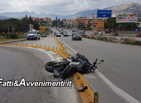 Palermo. Furgoncino travolge una moto all'ingresso della fondovalle Palermo Sciacca: grave un 40enne