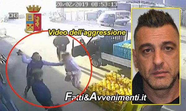 Comiso (RG). Rissa tra ambulanti, uno voleva accoltellare l'altro che lo massacra a colpi di crick: arrestato – Video