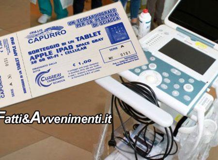 Sciacca. Domenica Estrazione Lotteria raccoltafondi per Ecocardiografo pediatrico all'Ospedale di Sciacca