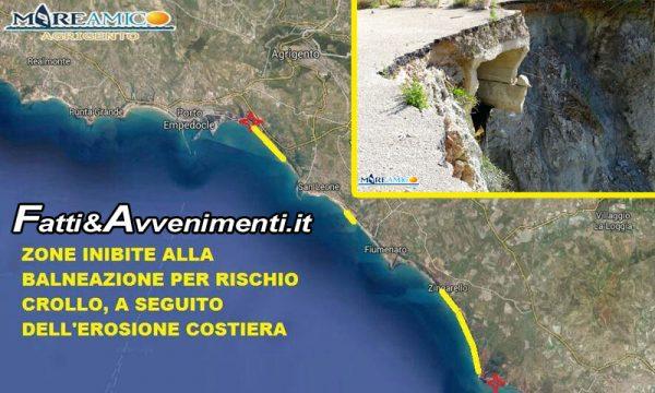Agrigento. Il 44% delle spiagge inibite al pubblico per crolli, a rischio anche case e infrastrutture: il video di MareAmico