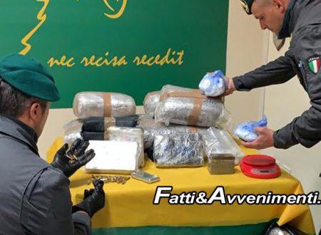Gravina di Catania. Finanza sequestra 193 kg di droga per 3 milioni di euro di valore: un arresto