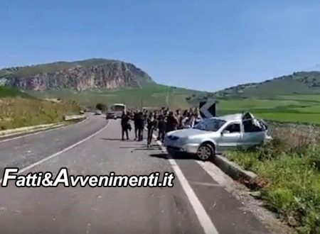 Scontro Bus – auto sulla Sciacca-Palermo: grave il conducente della vettura soccorso con l'elicottero del 118