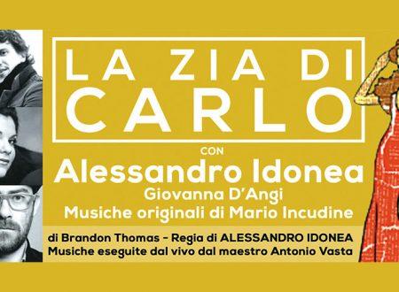 """TeatroRibera """"Città delle Arance"""": venerdì 22 al Cine Teatro Lupo, """"La zia di Carlo"""" con Alessandro Idonea"""