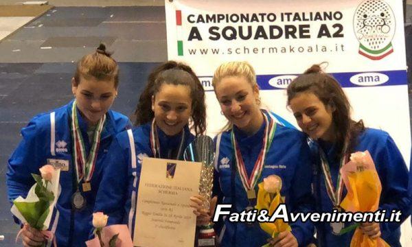 Scherma. Campionati Italiani serie A2 a Reggio Emilia: straordinario successo per Il Discobolo ASD Sciacca