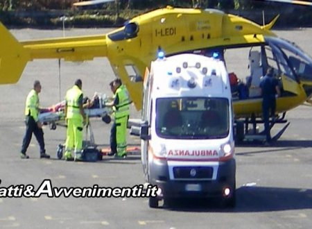 Fondovalle Sciacca-Palermo. Incidente tra auto e trattore: 3 feriti, elisoccorso sul posto