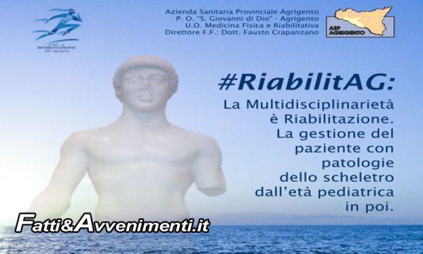 Agrigento. #RiabilitAG, il 3 e 4 maggio specialisti di tutt'Italia a confronto sulle patologie dello scheletro: dall'età pediatrica in poi