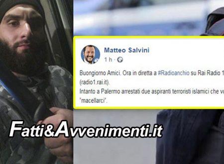 """Palermo. Arrestati 2 jihadisti, si addestravano per compiere attentati: """"Li macelliamo come pecore"""""""