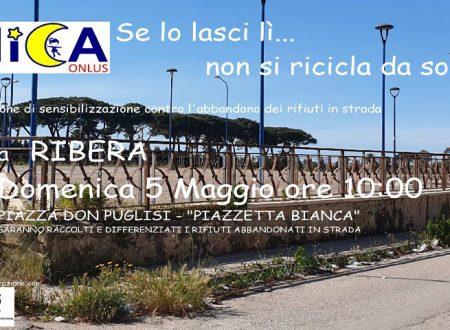 "Ribera. Flash mob del WWF: ""Piazzetta Bianca"" ripulita insieme ai volontari della NICA Onlus"