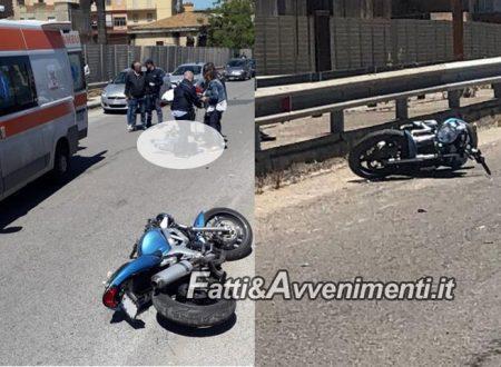Gela. 25Enne cade dalla moto rovinosamente sull'asfalto: è gravissimo trasferito in elisoccorso