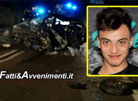 Incidente Sambuca. Morto anche il giovane Vincenzo Rizzuto, aveva solo 18 anni