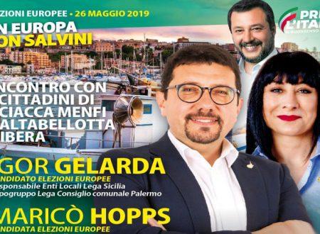 Il sabato leghista agrigentino: Igor Gelarda e Maricò Hopps ad Agrigento, Burgio e Sciacca