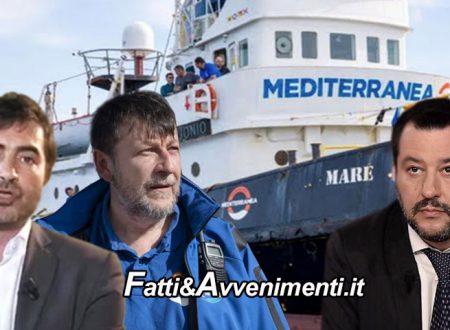 """Marsala. La ONG di Casarini e Fratoianni sfida e denuncia Salvini e torna nelle acque libiche per """"salvare clandestini"""""""