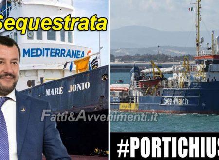 """La Sea-Watch 3 naviga verso Libia, Salvini: """"sarà fermata con ogni mezzo"""". Confermato sequestro della Mare Jonio"""