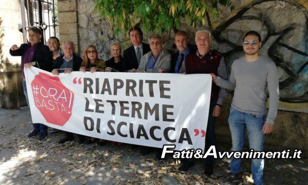 """Sciacca. """"Ora Basta!"""" di Messina a Palermo per riapertura Terme, Ass.re Armao: """"Errore chiuderle"""""""