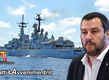 """Nave Marina prende a bordo clandestini: Salvini  """"Non vi apro i porti… c'è un ministro che lavora in altra direzione"""""""