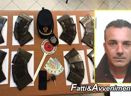 Porto Empedocle. Arrestato 45enne: trovato con oltre 4 kg di  hashish