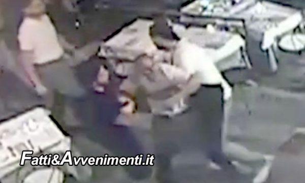 Modica. Tenta di uccidere la moglie a pranzo in un  locale con coltello ed ascia, poi fuggono: la polizia è sulle loro tracce