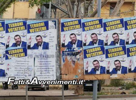 """Agrigento, Appaiono manifesti anti-Salvini. Gelarda (Lega): """"Non fermeranno la voglia di cambiamento"""""""