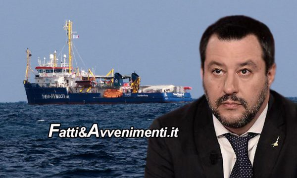 """La Ong Sea Watch sfida il governo e viene in Italia, Salvini: """"Porti chiusi e se vogliono indagarmi facciano pure"""""""