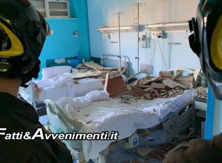 Siracusa. Crolla intonaco soffitto nel reparto di Medicina dell'Ospedale Umberto I: due pazienti feriti