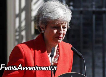 Inghilterra. Il Primo Ministro Theresa May si dimetterà il 7 giugno: falliti tutti i tentativi di Brexit