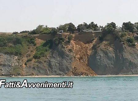 SS 640 Agrigento Porto Empedocle. Crolla il costone Caos-Maddalusa: Mareamico aveva lanciato l'allarme